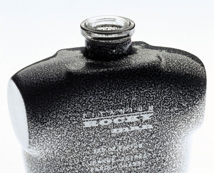 Stone-coloured bottle, powder-coated by Azko Nobel, 2000.