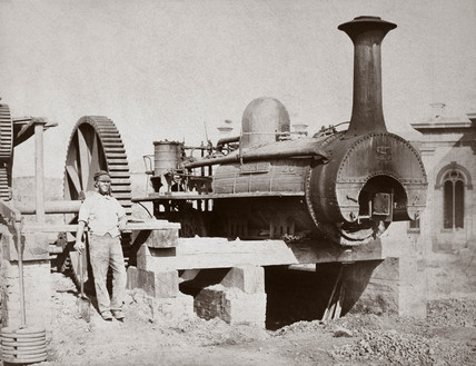 Steam locomotive 'Adelaide', Saltburn, Redcar & Cleveland, 1860.