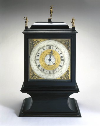 Pedestal astronomical clock, c 1695.