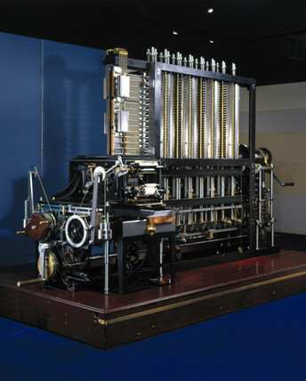Babbage's Difference Engine No 2 with printing mechanism, February 2001.