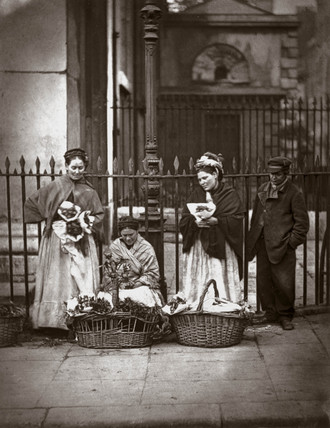 'Covent Garden Flower Women', 1877.