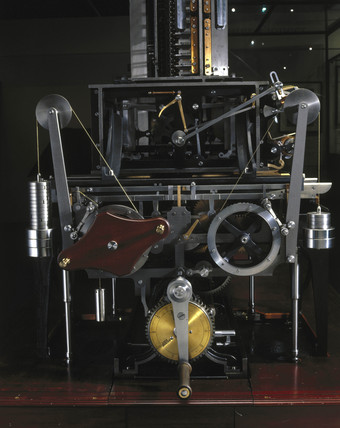Printing mechanism for Babbage's Difference Engine No 2 , February 2001.
