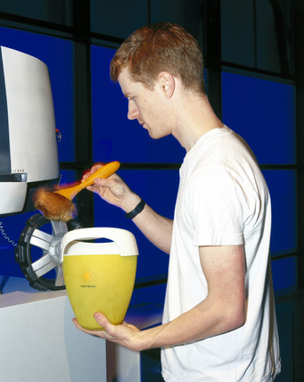 'Iondust' brush in use, 2000.