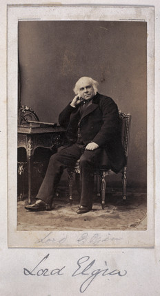 Lord Elgin, British diplomat, c 1860.