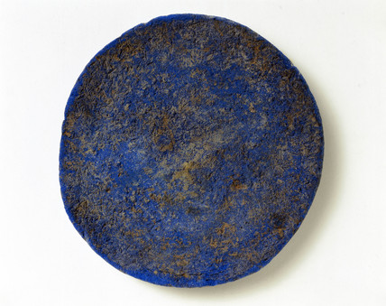 Disc of blue frit, c 1500 BC.
