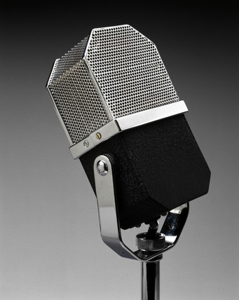 Microphone made by EMI, c 1938.