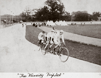 'The Varsity Triplet', Herne Hill, London, 1894.