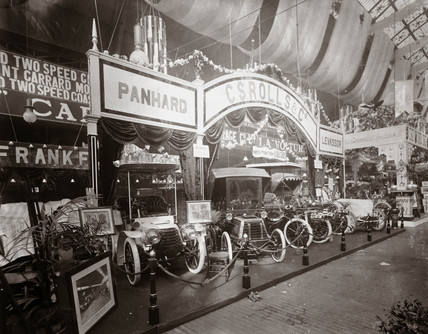 C S Rolls & Co's stand at a trade fair, Agricultural Hall, London, 1903.