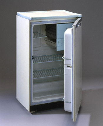 'Prestcold Packaway' electric refrigerator, 1959.