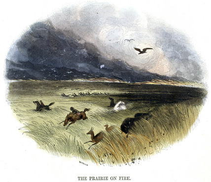 'Prairie on Fire', 1849.