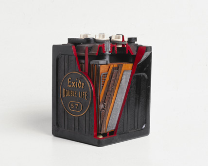 'Exide double life' car battery, c 1920s.