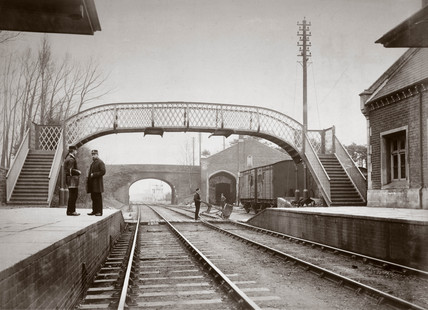 Yate station, Gloucestershire, 1889.