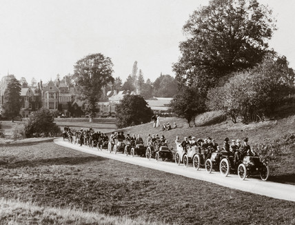 Automobile Club meet at 'Hendre', near Monmouth, Wales, 1900.