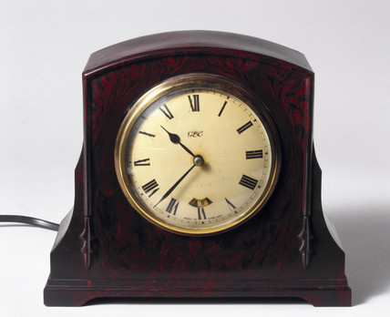 Mains-driven synchronous electric clock, English, c 1930s.