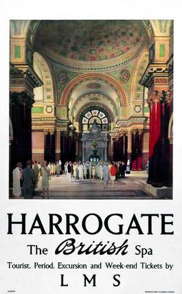 'Harrogate - The British Spa', LMS poster, 1923-1947.