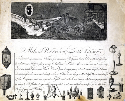 'Miles's Patent Agitable Lamps', c 1790.