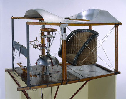 Control mechanism of Bleriot's monoplane, 1909.