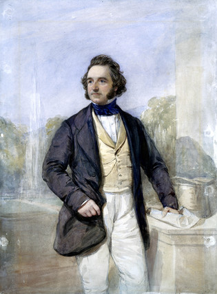 Sir Joseph Paxton, English architect and designer of the Crystal Palace, c 1851.