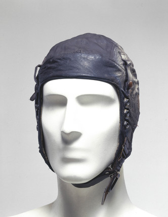 Leather flying helmet, c 1939-1945.