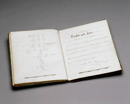 School exercise book, English, 1862.