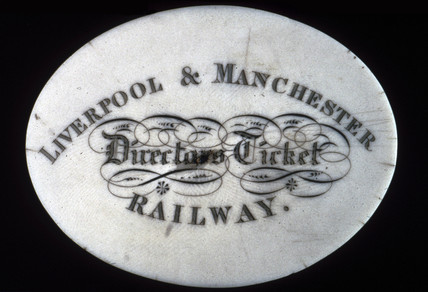 Liverpool & Manchester Railway Director's ticket, c 1870s.