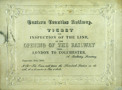 Train ticket, 1843.