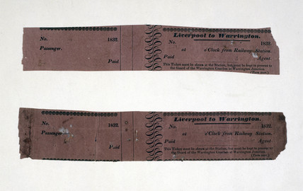 Railway tickets, 1832.