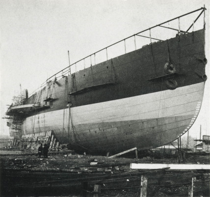 The 'Great Eastern' steamship before launching, c 1858.