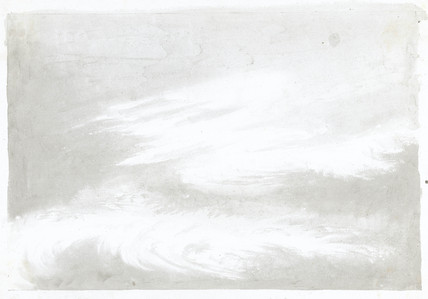 Cloud study by Luke Howard, c 1808-1811.