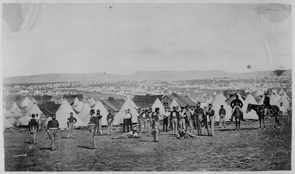 Crimean War camp of the 97th regiment, 1854-1856.