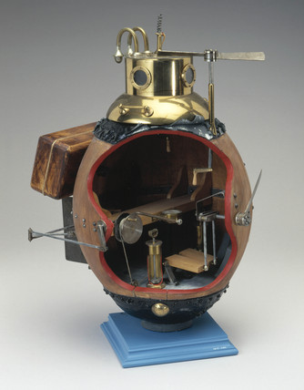 Model of submersible 'Turtle', 1776.