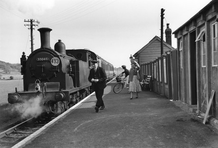 View of Colyford station, Devon, c 1940s.