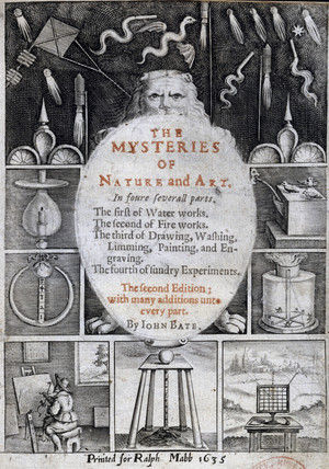 Frontispiece to 'The Mysteries of Nature and Art', 1635.