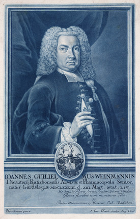 Johann Weinmann, German pharmacologist and botanical illustrator, c 1730s.