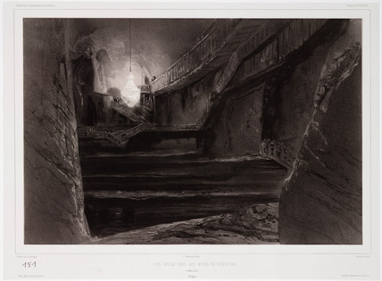 'View Taken in the Mines of Wieliczka', Poland, 20 March 1840.