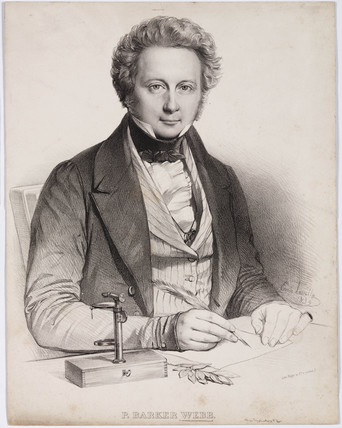 Philip Barker Webb, English botanist, c 1830s.