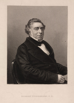 Robert Stephenson, English mechanical and civil engineer, c 1850s.