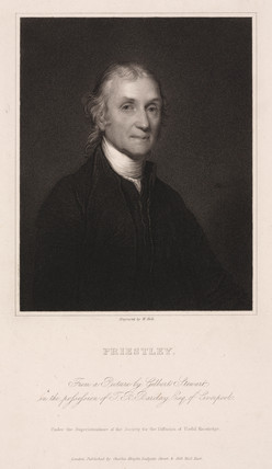 Joseph Priestley, English-American theologian and chemist, c 1800.