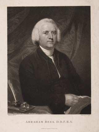 Abraham Rees, English encyclopedist, 1796.