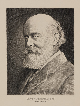 Sir Oliver Lodge, English physicist, early 20th century.