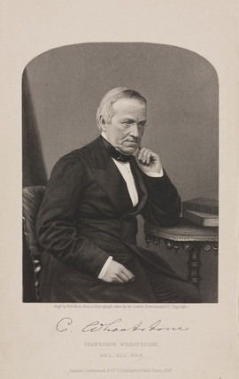 Sir Charles Wheatstone, English physicist, 1860-67.