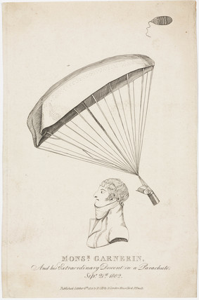 Andre Jacques Garnerin, French aeronaut, 1802.