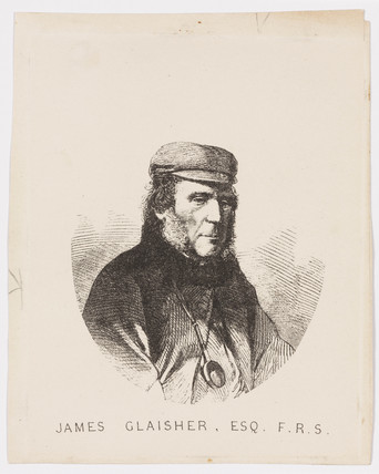 James Glaisher, FRS, meteorologist and balloonist, c 1870s.