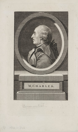 Jacques Charles, French aeronaut and physicist, c 1783.