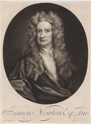 Sir Isaac Newton, English mathematician and physicist, 1702.
