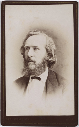 Ernst Haeckel, German naturalist, c 1860s.