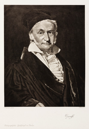 Carl Friedrich Gaus, German mathematician, mid 19th century.