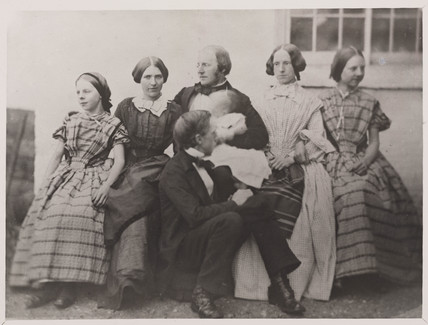 Alexander Parkes, English inventor and chemist, with his family, c 1870.