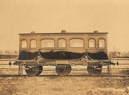 Royal carriage, mid 19th century.