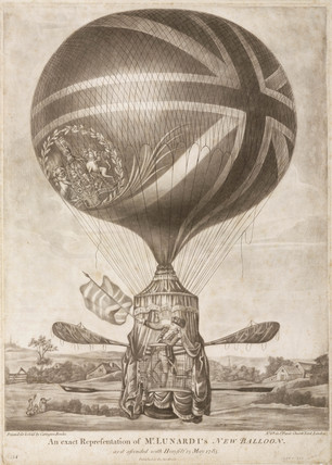 'An exact Representation of Mr Lunardi's New Balloon', 13 May 1785.